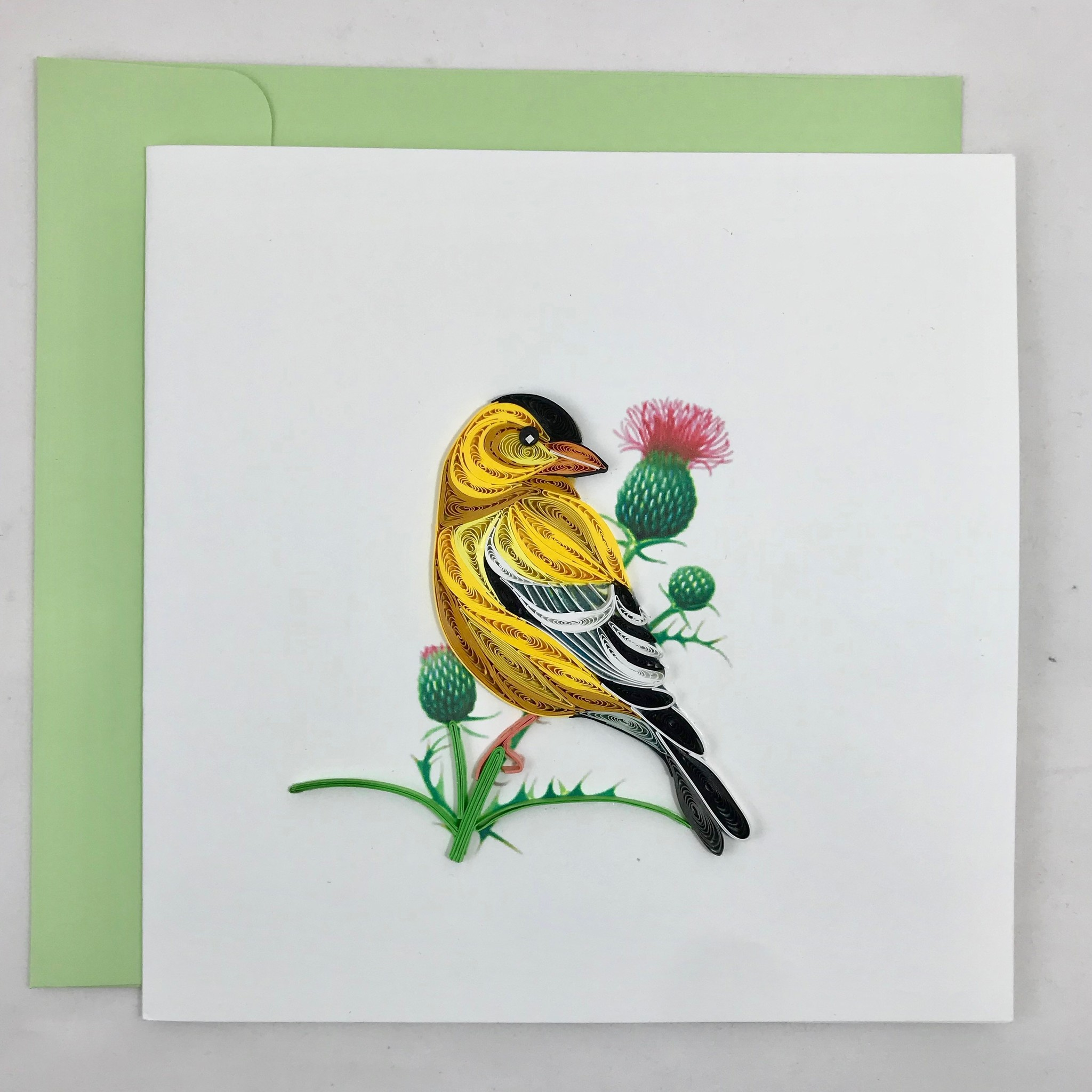 Quilling Card Eastern Goldfinch || Quilling Card