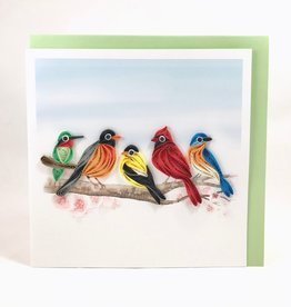 Quilling Card Songbirds Quilling Card