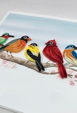 Quilling Card Songbirds || Quilling Card