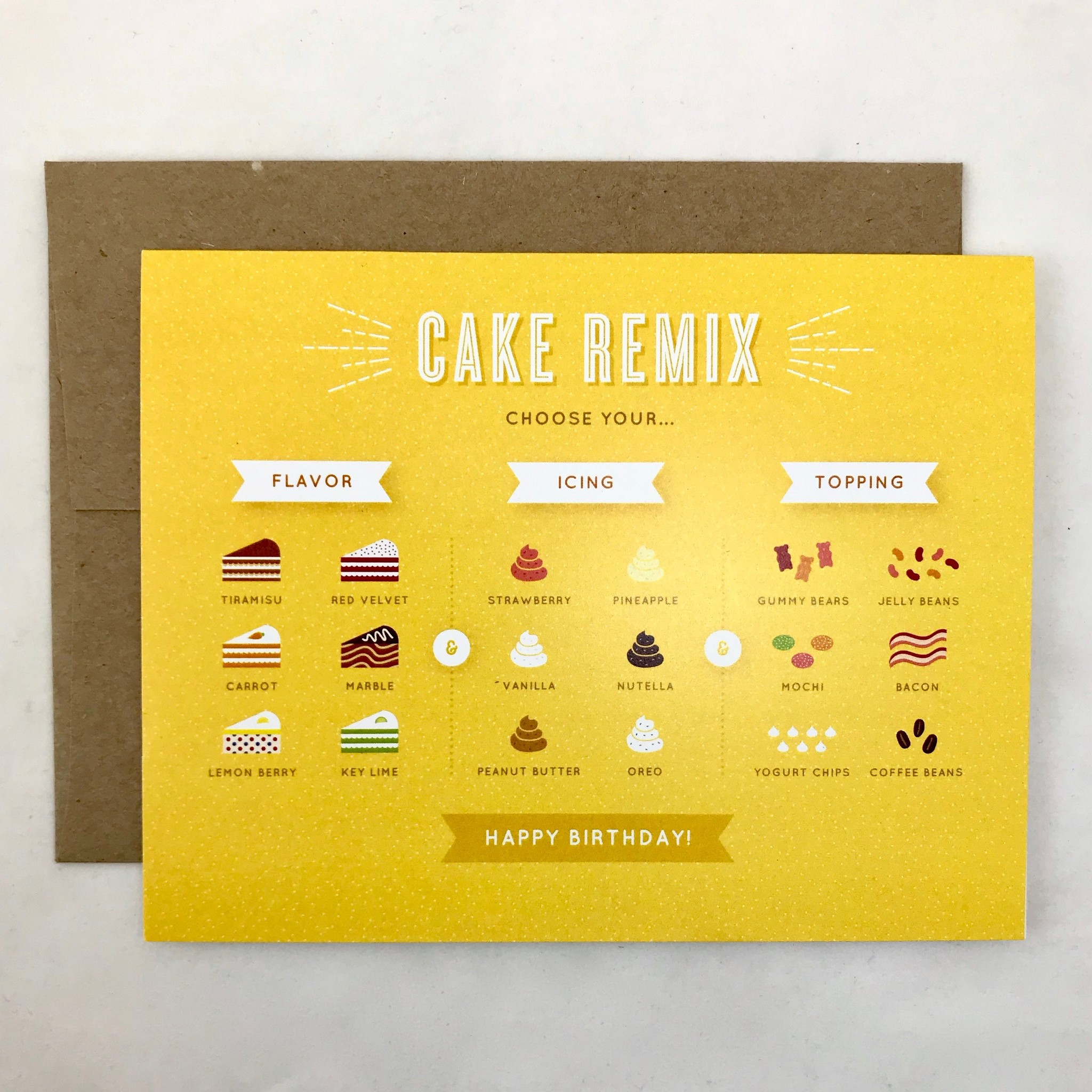 Quirky Paper Co. Cake Mix Birthday Card | Quirky Paper