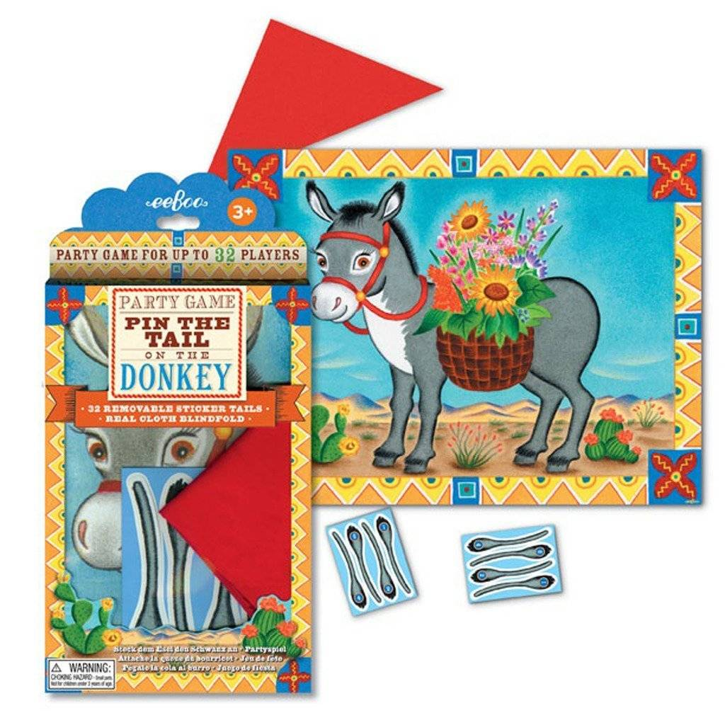 Pin the Tail on the Donkey Game, eeBoo