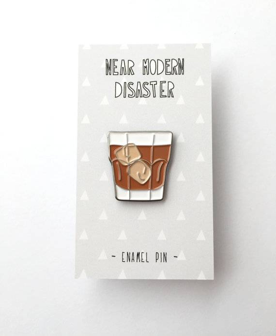 Whiskey Enamel Pin | Near Modern Disaster