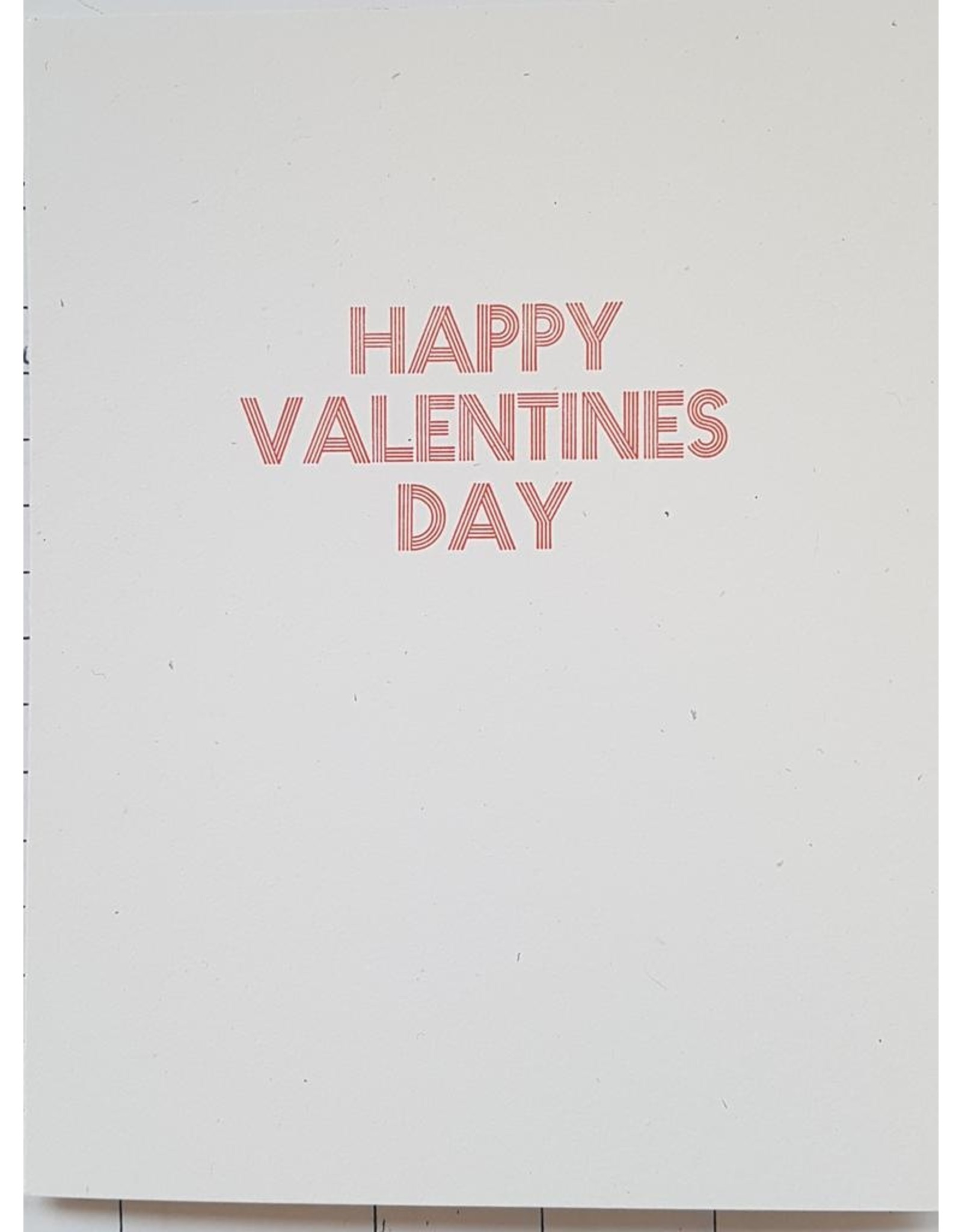 McLachlan, Sean Happy Valentine's Day card, by Printmonger Press