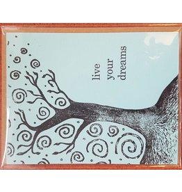 Karen Fuhr live your dreams, card