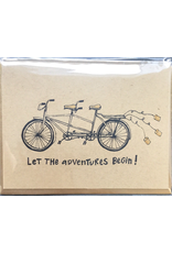 Karen Fuhr Let the adventures begin card, by Art Rocks Press