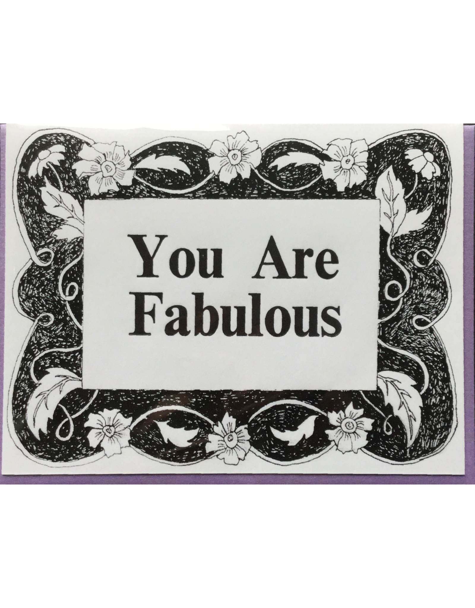 Karen Fuhr You Are Fabulous card, by Art Rocks Press