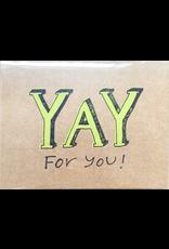 Karen Fuhr YAY card, by Art Rocks Press