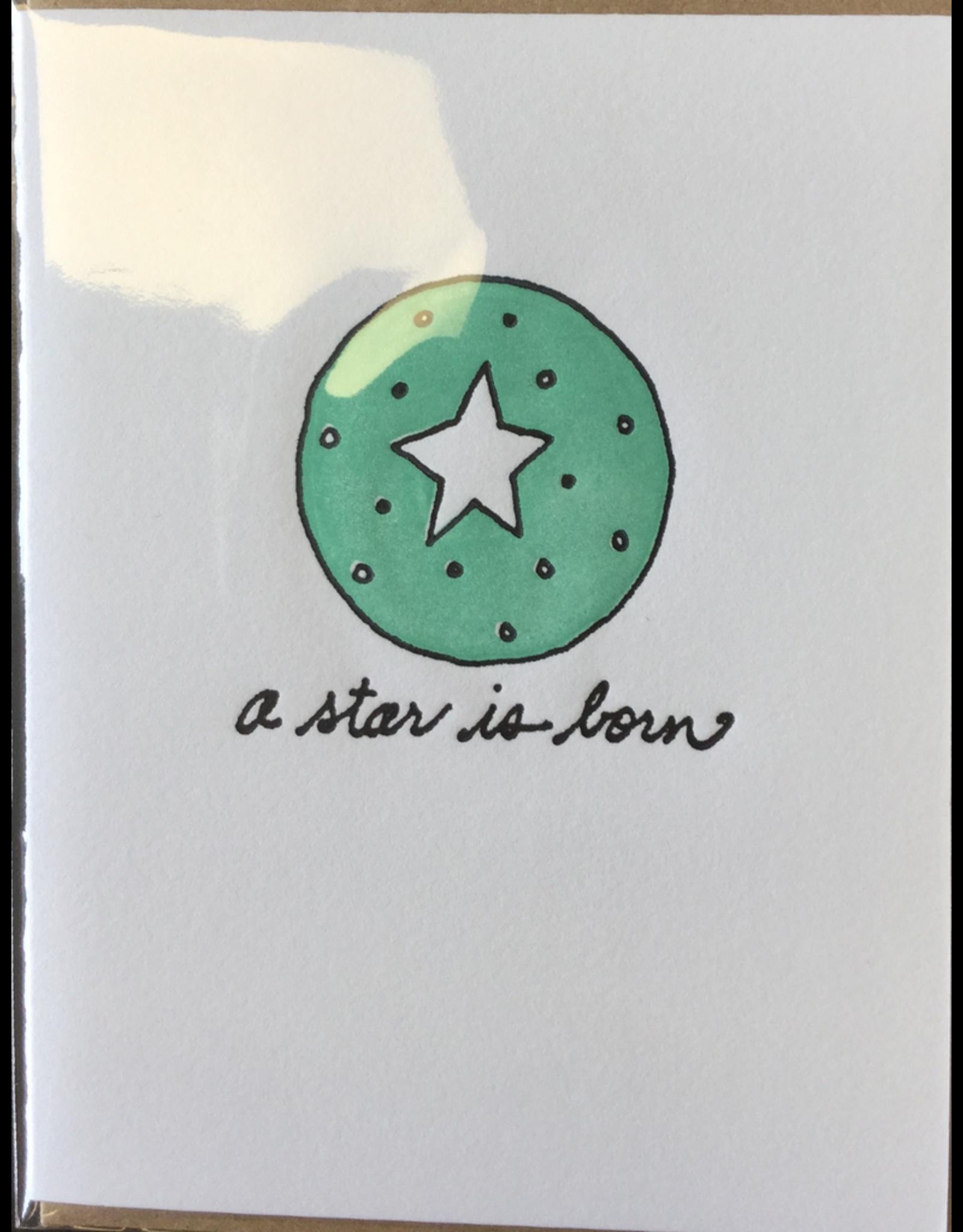 Karen Fuhr A star is born card, by Art Rocks Press
