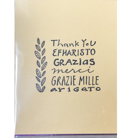 Karen Fuhr Thank you (6 languages) card