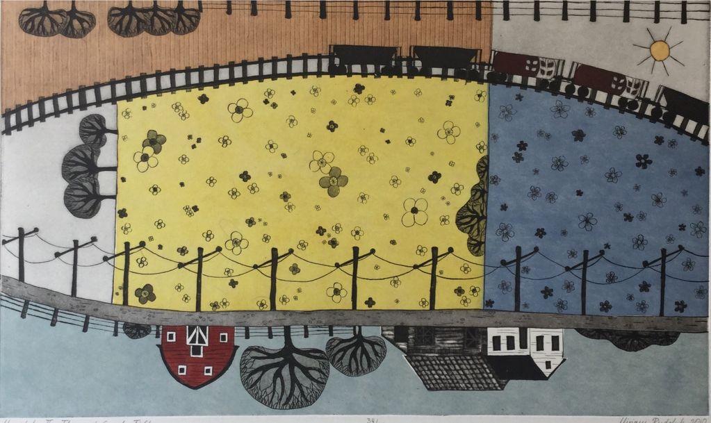 Rudolph, Miriam Manitoba II - Flax and Canola Field