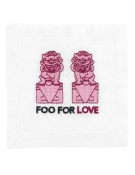August Morgan Foo for Love - Holiday Cocktail Napkins - Set of Four
