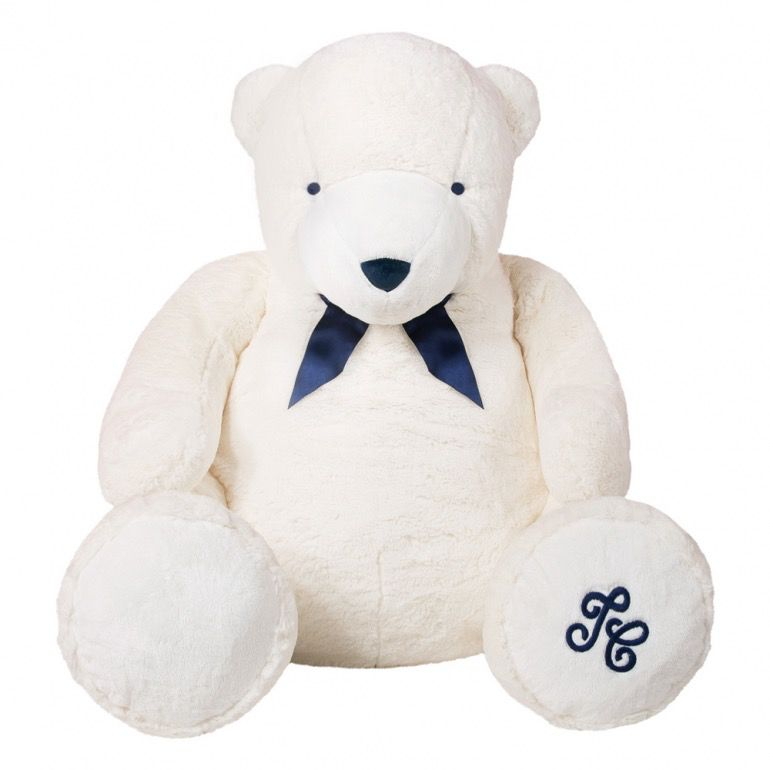 tartine et chocolate Tartine et Chocolat - Jean the White Bear - Ecru 110cm - Gift Box