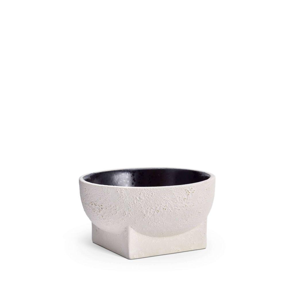 L'Objet L'Objet - Cubisme Bowl - Small - Black/White - 13 D x 7 H cm