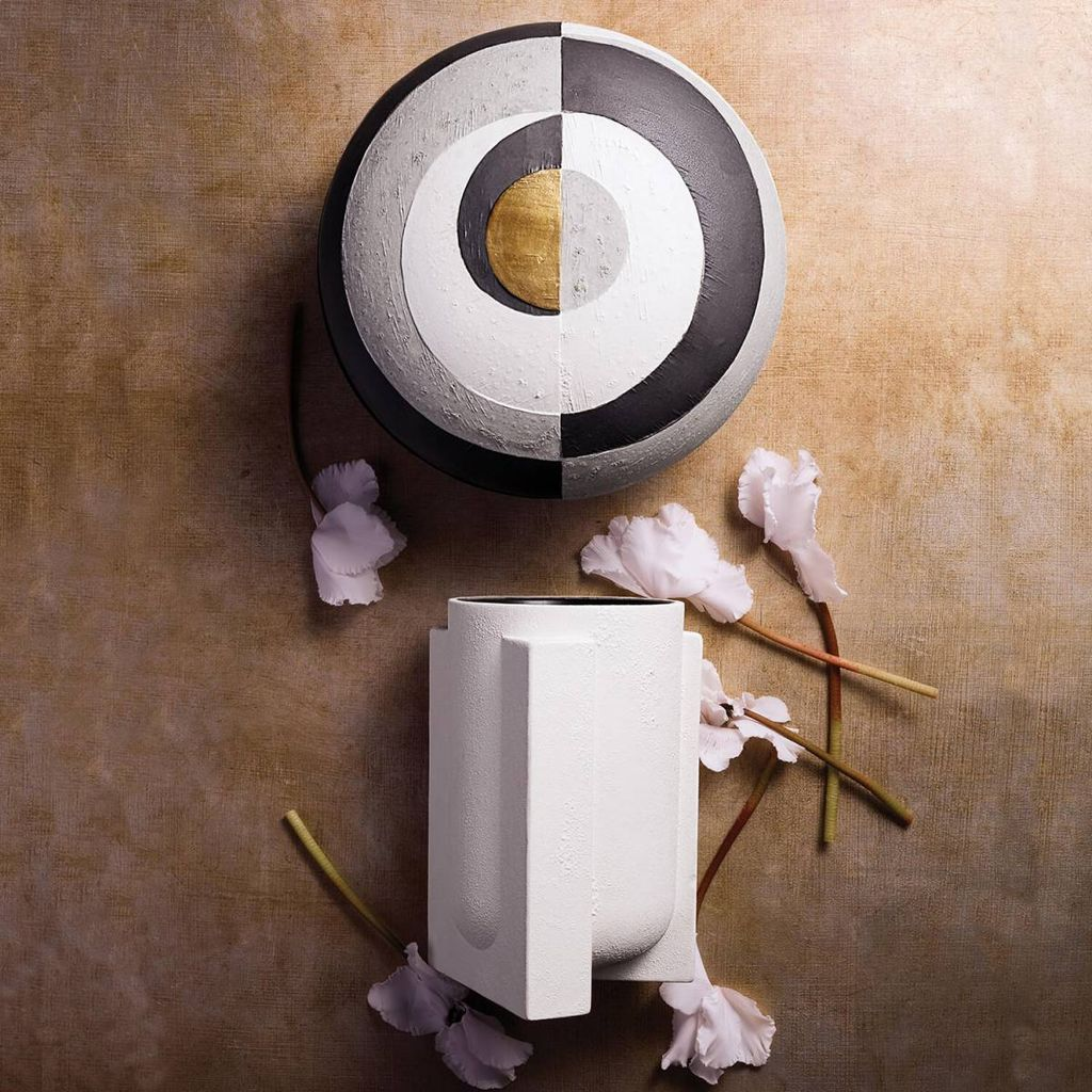 L'Objet L'Objet - Cubism Round Box - Large D23xH15cm