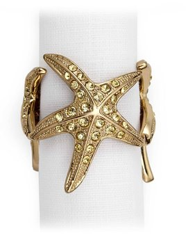L'Objet L'Objet -Starfish Napkin Rings - Set of 4