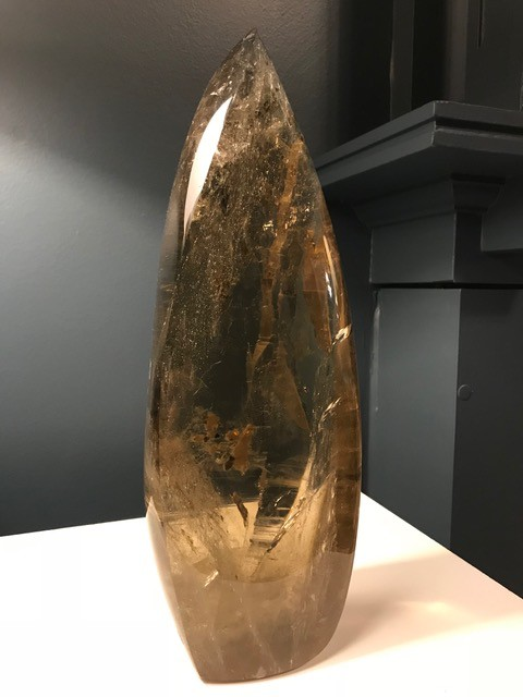 Smokey Quartz and Citrine Free Form Point  Polished - H33cm approx