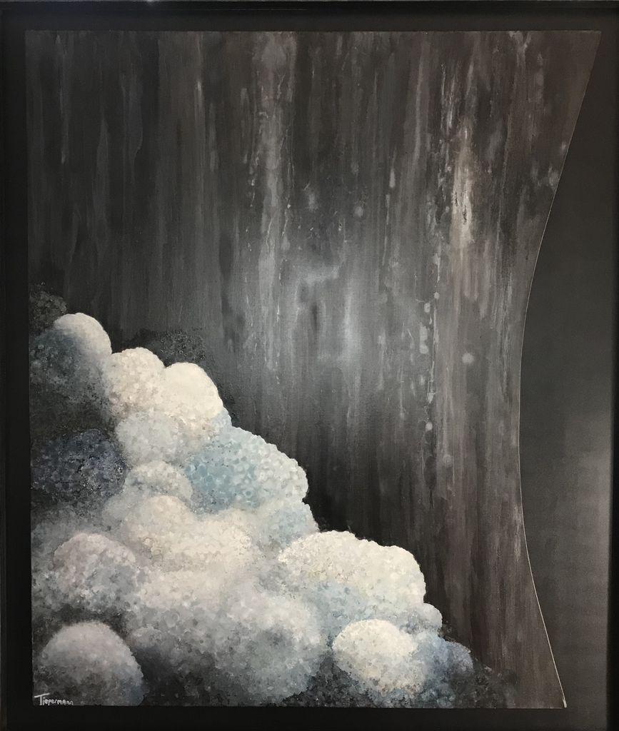 Jacqueline Tiepermann - Wallaroy XVI - Oil on Belgium Linen with a Black Box Frame - 175x150cm (2018)