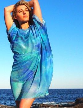 Phillip Ayers - Kaftan - Silk Cotton - Blue