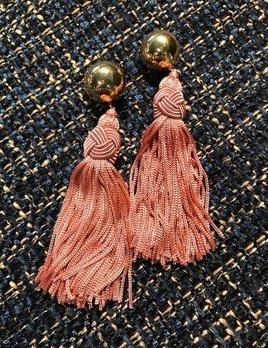 Daniel Espinosa Daniel Espinosa - Cerezo Tassle Earrings - Pink - 22ct Gold Plated