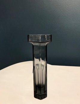 Vintage Wedgwood Frank Thrower Brutus Vase - Smoke Grey Glass  - Short c1970