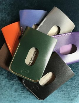 Blackinkk The Two Pocket Card Holder - Kangaroo Leather - Handmade in Australia - Assorted Colours