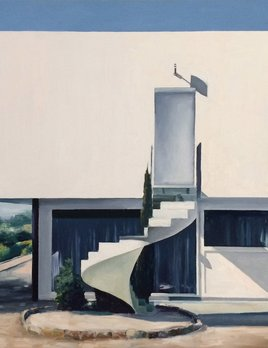 James King - Cube House 2018 - Roquebrune sur Argens - 63x63cm Framed - Oil on Board