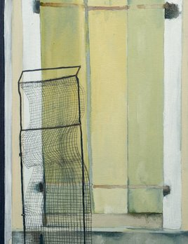 James King - Window (Essoyes, France) 2018 - 36.5x30cm Framed - Watercolour and Pencil on Book