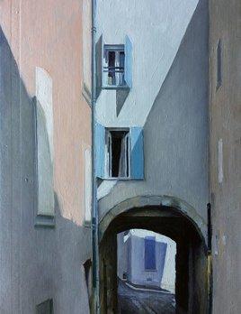 James King - Roquebrune sur Argens #2 2018 - 38.5x32cm - Oil on Book