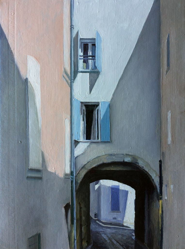 James King - Roquebrune sur Argens #2 2018 - 38.5x32cm - Oil on Book