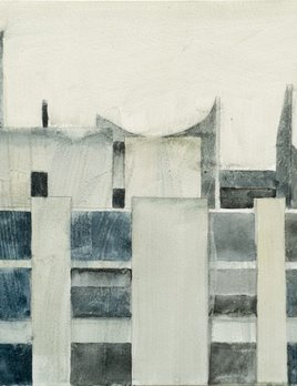 James King - Study for Dijon Rooftop 2018 -  37x45cm Framed - Watercolour on Paper