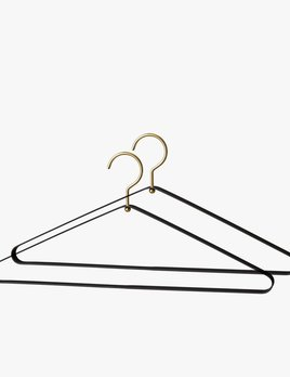 AYTM Vestis Hanger Set of Two 2 - Black Gold