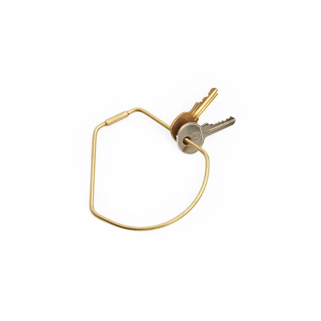 Until/See Concept Contour Brass Keyring - Bell