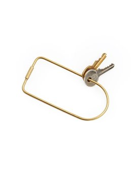 Until/See Concept Contour Brass Keyring - Bend