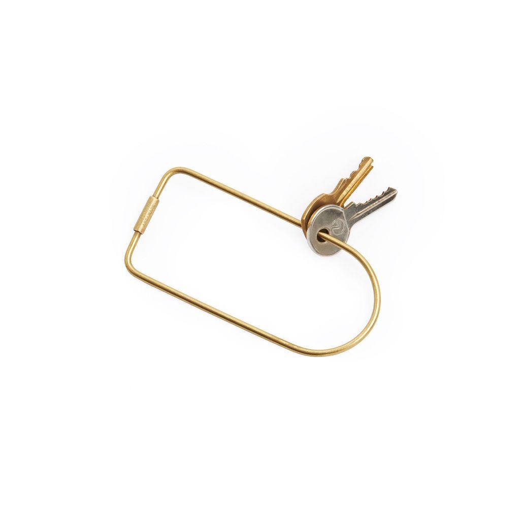 Until/See Concept Contour Brass Keyring - Bend