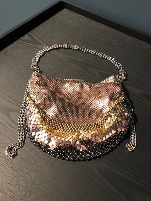 Laura B LAURA B - MINI U - Multi Colour Mesh Body Bag with Extendable Cross Body Strap - Handmade in Spain