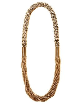 2 by lyn and tony HALCYON - Woven Rose Gold Kangaroo Leather & Metallic Plated Necklace - Handcrafted  in Australia