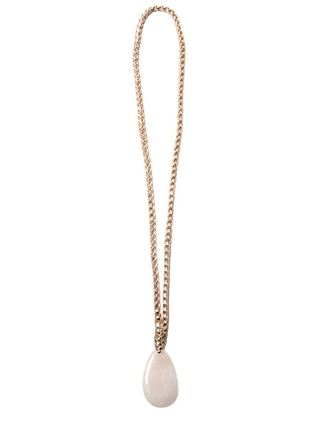 2 by lyn and tony ROSE MAGIC - Woven Rose Gold Kangaroo Leather & Metallic Plated Necklace - Handcrafted  in Australia