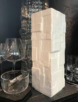 Vintage Heinrich Matte White Vase - Brutalist Geometric - Germany - H33cm