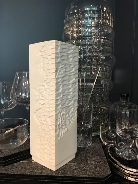 Vintage Kaiser Matte White Vase - H29cm - Germany