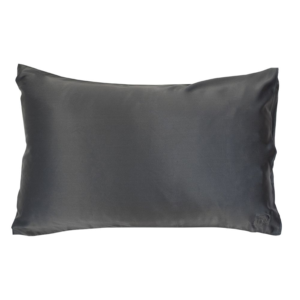 The Good Night Company The Good Night Company - Silk Pillow Case - 51x76cm - Charcoal
