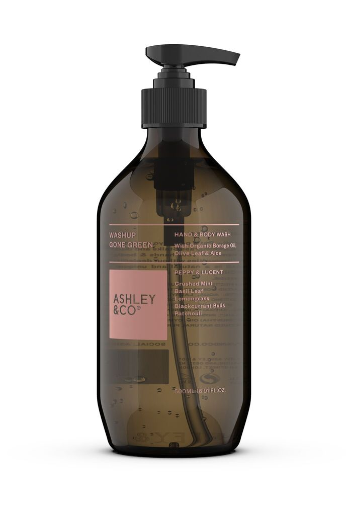 Ashley & Co Ashley & Co - Peppy & Lucent Wash Up - Ecocert Approved - 500ml - Made in New Zealand