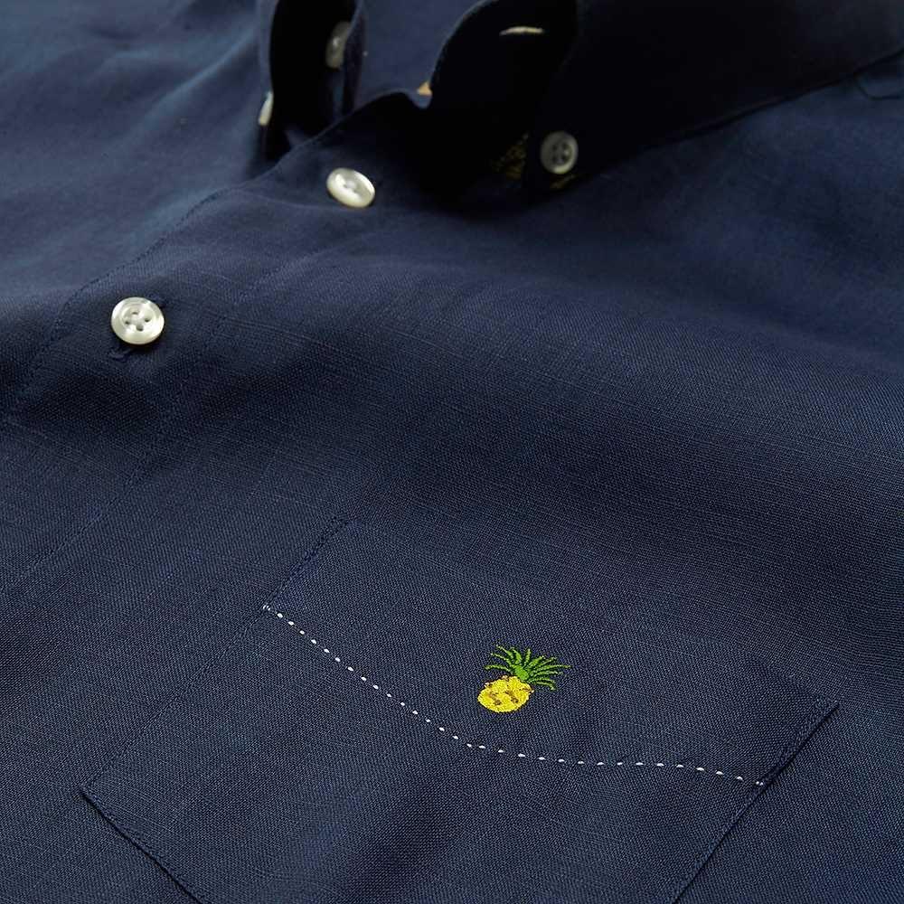 Deacon MD OAS Marine Pineapple Shirt - 100% Linen - Sweden