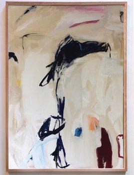 Inheritance of Tradition 2018 - Antonia Mrljak - Ink, Oil and Acrylic on Linen, Oak Framed - 104x144cm