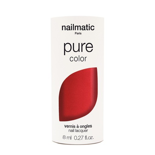 Until/See Concept Nailmatic - Pure Color Eco Friendly Nail Polish - Amour Red - Paris