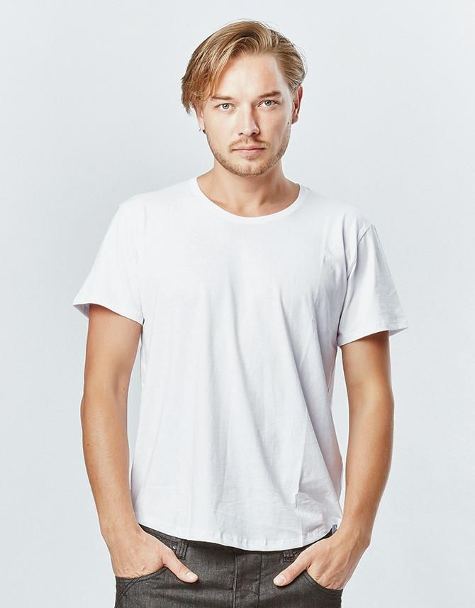 Amuk AMUK - Classic Tee with Curved Hem - 100% Pima Cotton