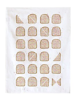 Make me Iconic Fairybread Tea Towel - 50% Linen 50% Cotton