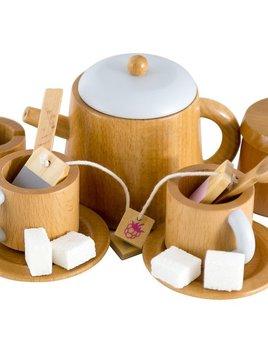 Make me Iconic Wooden Tea set - Wood with non Toxic Paints