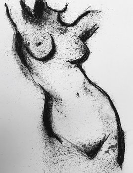 Thomas Bucich - Nude Study VII - Charcoal, Pencil on Paper - 76H x 56W Unframed