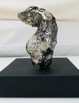 Thomas Bucich - Torso I - Electroplated Nickle, Stone Base - 22H x 20W x 20D