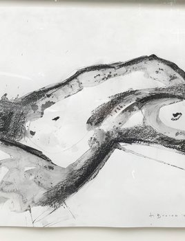 Thomas Bucich - Nude Landscape 2  - Pencil, Charcoal Wash on Paper - 58H x 58W